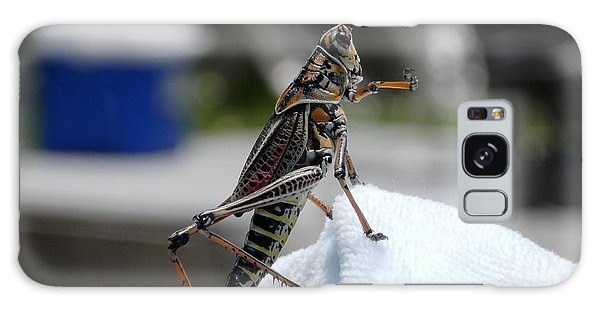 Dancing Grasshopper At The Pool Galaxy Case