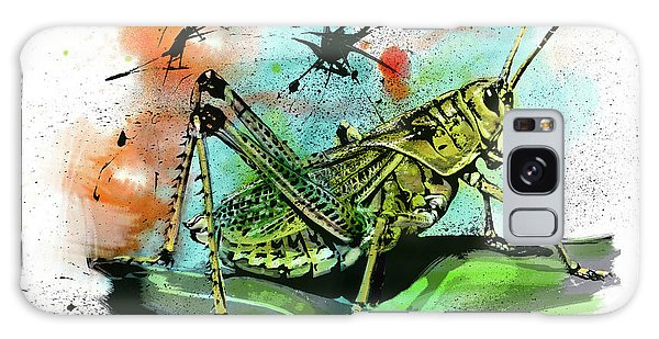 Galaxy Case featuring the drawing Grasshopper by John Dyess