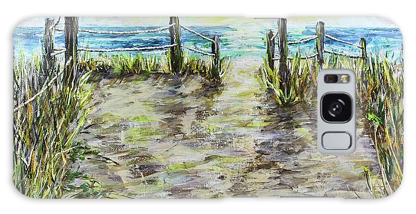 Grassy Beach Post Morning 2 Galaxy Case
