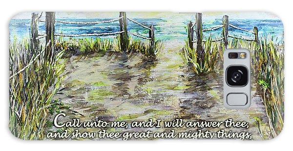 Grassy Beach Post Morning 2 Jeremiah 33 Galaxy Case