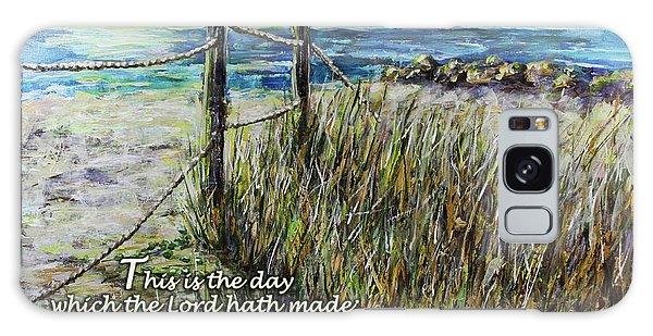 Grassy Beach Post Morning Psalm 118 Galaxy Case