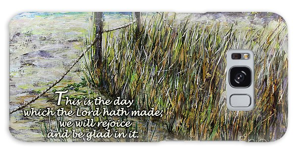 Grassy Beach Post Morning Psalm 118 Galaxy Case