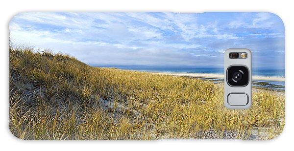 Grassy Sand Dunes Overlooking The Beach Galaxy Case