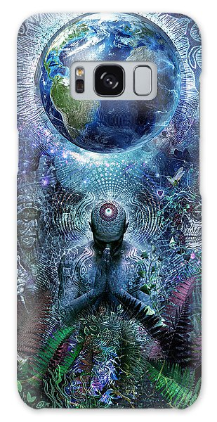 Present Galaxy Case - Gratitude For The Earth And Sky by Cameron Gray