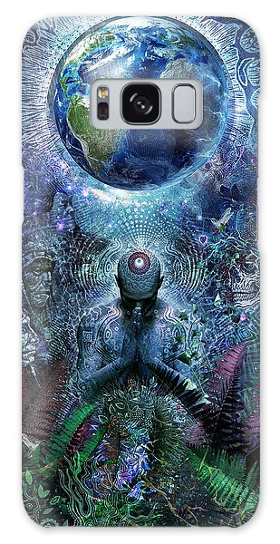 Peace Galaxy Case - Gratitude For The Earth And Sky by Cameron Gray