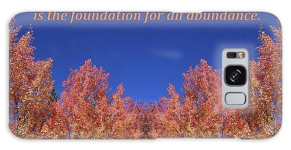 Gratitude Is The Foundation For Abundance Galaxy Case