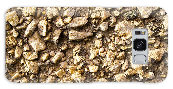 Gravel Stones On A Wall Galaxy Case