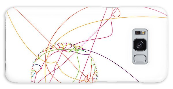 Visualization Galaxy Case - Gravitational Simulation Of 153 Digits Of Pi. by Martin Krzywinski