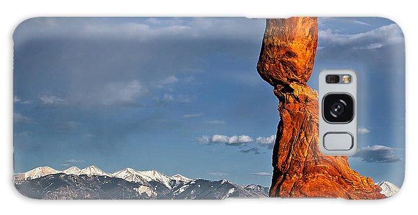 Gravity Defying Balanced Rock, Arches National Park, Utah Galaxy Case