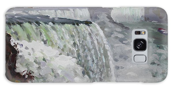 Gray Galaxy Case - Gray And Cold At American Falls by Ylli Haruni