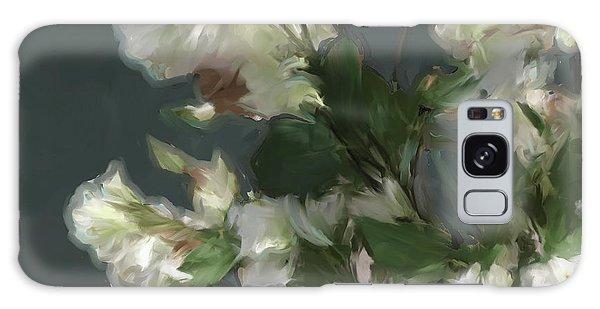 Gray Floral 09 Galaxy Case