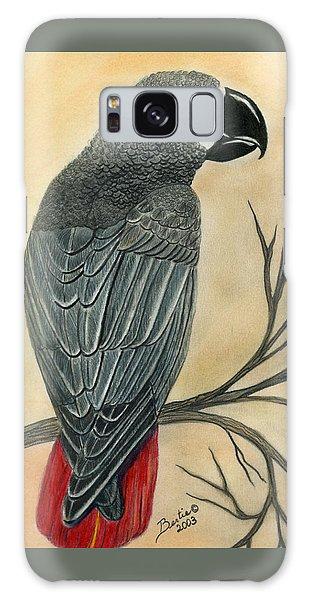 Gray Parrot Galaxy Case