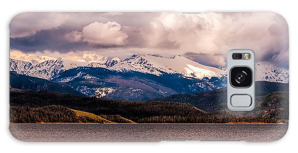 Gray Skies Over Lake Granby Galaxy Case by Tom Potter