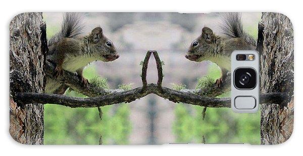 Gray Squirrel Soul Mates Galaxy Case