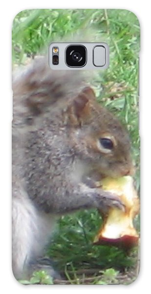 Gray Squirrel With An Apple Core Galaxy Case