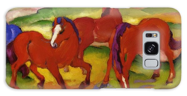 Grazing Horses Iv The Red Horses 1911 Galaxy Case