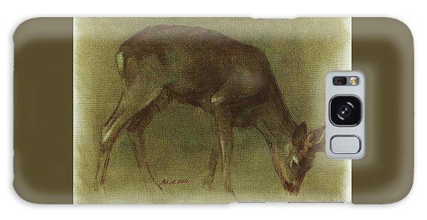 Grazing Roe Deer Oil Painting Galaxy Case