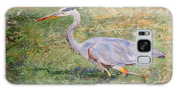 Herons Galaxy Case - Great Blue by Amber Foote