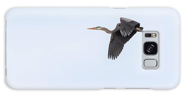 Great Blue Heron 2017-1 Galaxy Case by Thomas Young