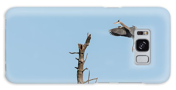 Great Blue Heron 2017-3 Galaxy Case by Thomas Young