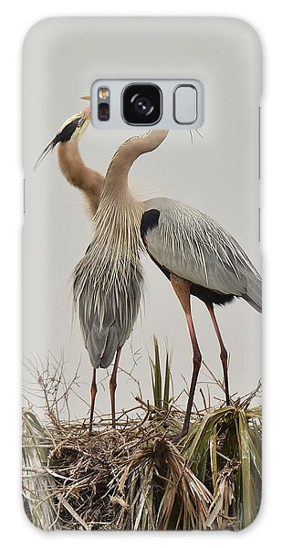 Great Blue Heron Affection Galaxy Case