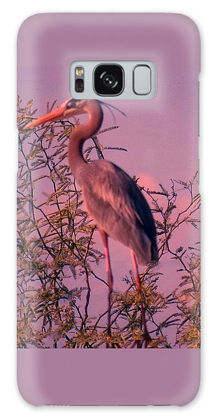 Great Blue Heron - Artistic 6 Galaxy Case