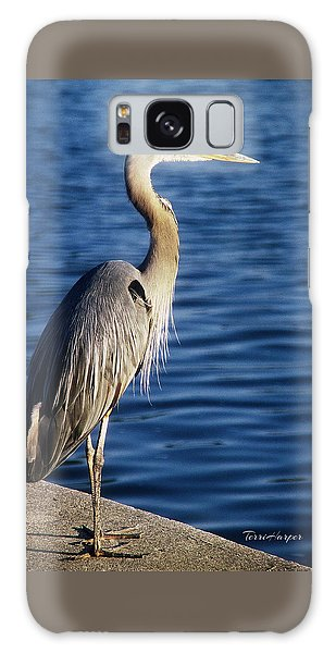 Great Blue Heron At Put-in-bay Galaxy Case