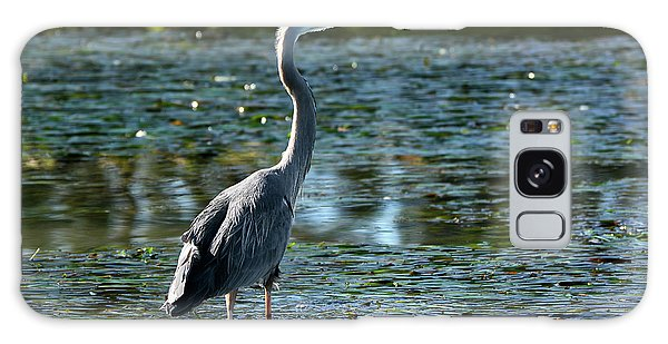 Great Blue Heron Catching The Light Galaxy Case