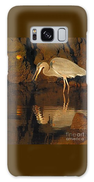 Great Blue Heron Galaxy Case by Debbie Stahre