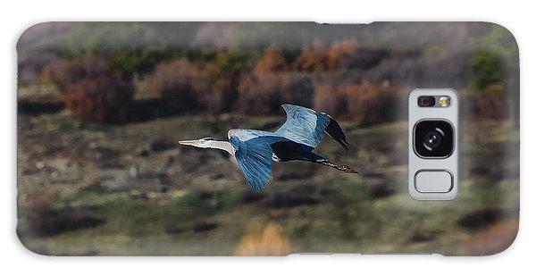 Great Blue Heron In Flight II Galaxy Case