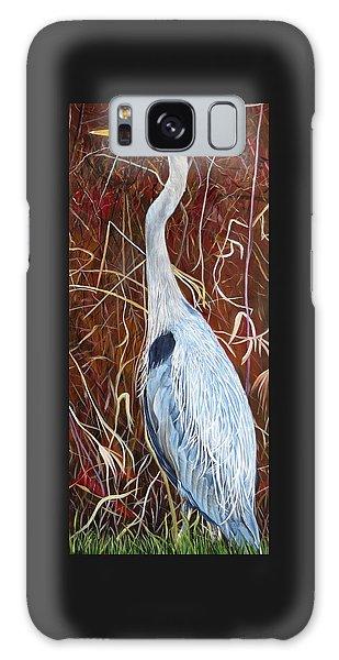 Great Blue Heron Galaxy Case by Marilyn  McNish