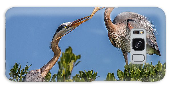 Great Blue Heron Nest Building Galaxy Case