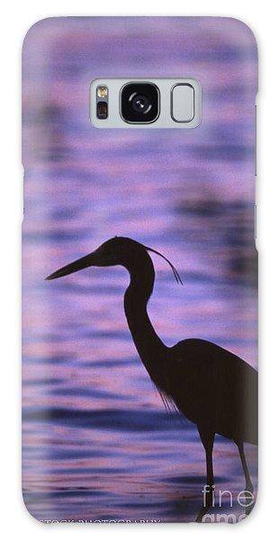Great Blue Heron Photo Galaxy Case