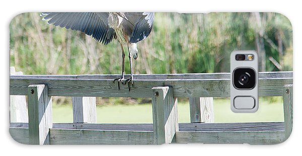 Great Blue Heron Preening Galaxy Case