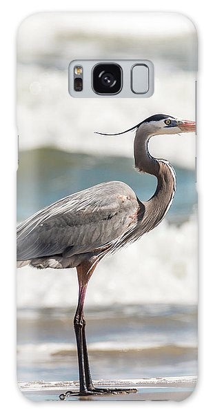Great Blue Heron Profile Galaxy Case