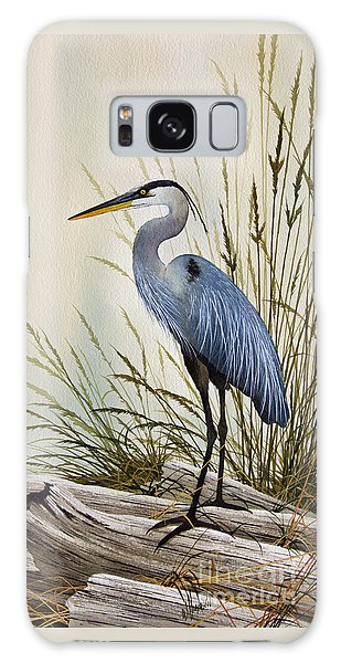 Great Blue Heron Shore Galaxy Case