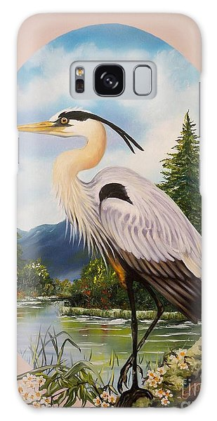 Flying Lamb Productions                 Great Blue Heron Galaxy Case