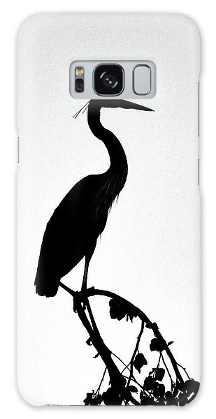 Galaxy Case featuring the photograph Great Blue Heron Silhouette by Ken Stampfer