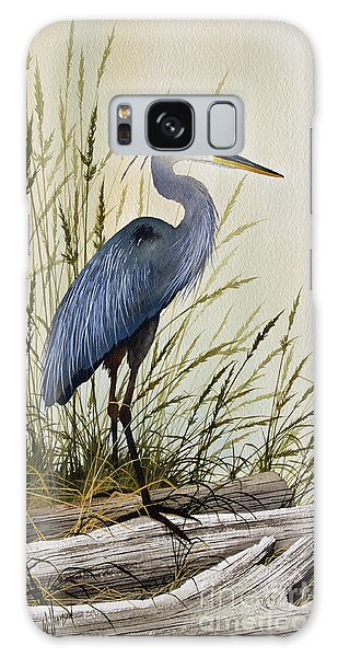 Great Blue Heron Splendor Galaxy Case