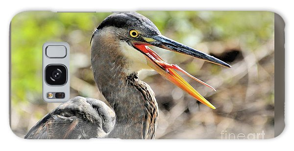 Great Blue Heron Tongue Galaxy Case