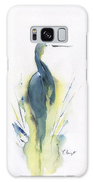 Blue Heron Turning Galaxy Case