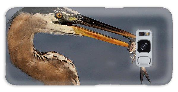 Great Blue Heron W/catfish Galaxy Case