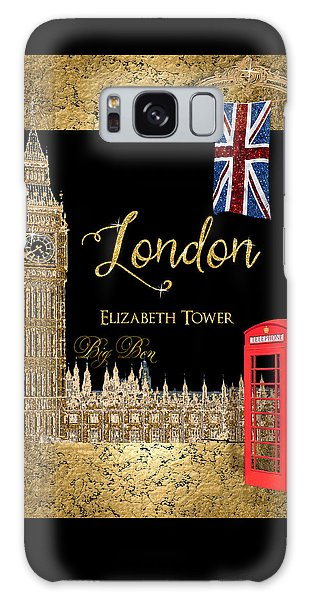 Great Cities London - Big Ben British Phone Booth Galaxy Case