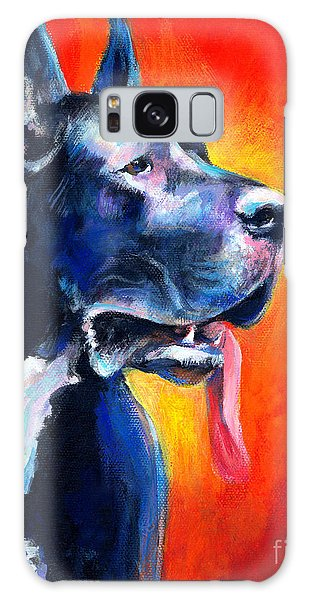 Great Dane Dog Portrait Galaxy Case