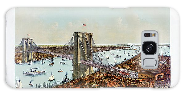 Great East River Suspension Bridge 1892 Galaxy Case