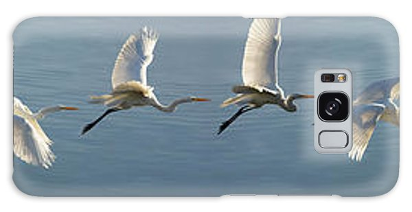 Great Egret Flight Sequence Galaxy Case