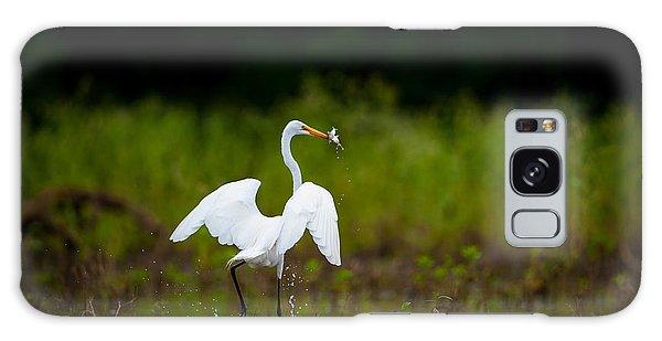 Great Egret, Great Fisherman Galaxy Case