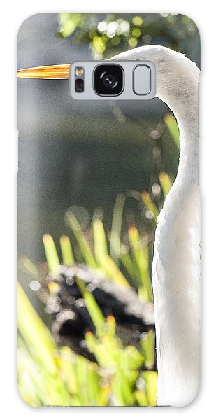 Great Egret Headshot Profile  Galaxy Case