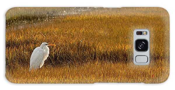 Great Egret In Morning Light Galaxy Case
