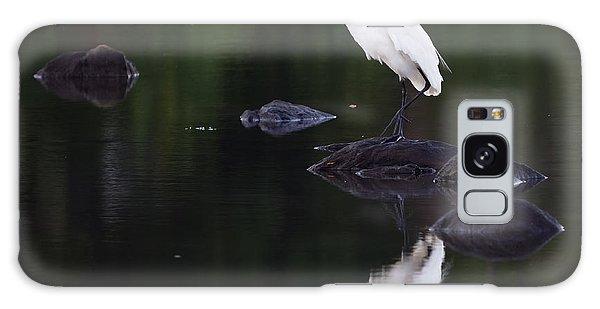 Great Egret Reflection Galaxy Case